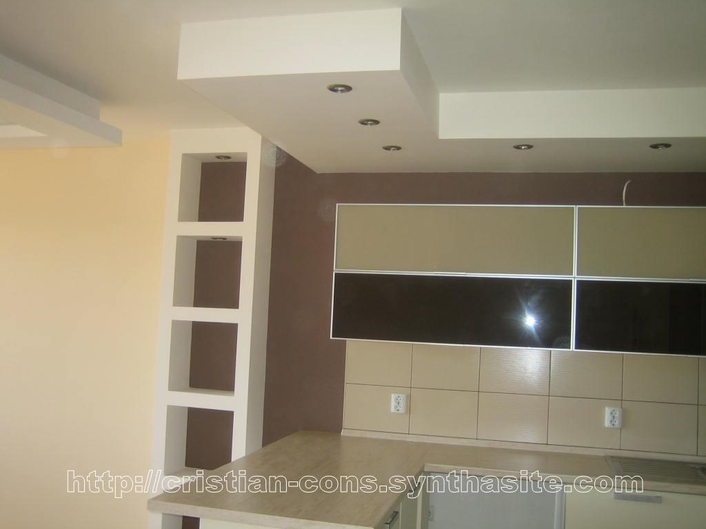 Двухуровневые потолки из гипсокартона фото для кухни своими руками 44